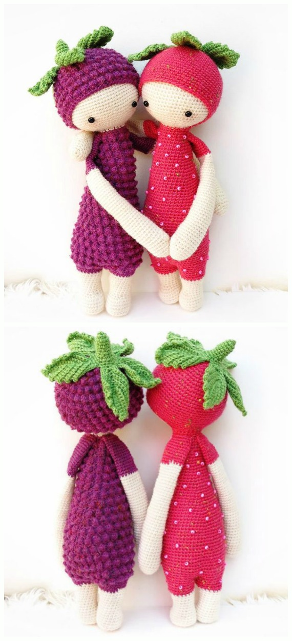 Crochet Berry Doll Amigurumi Free Pattern - #Crochet, #Doll Toys Amigurumi Free Patterns