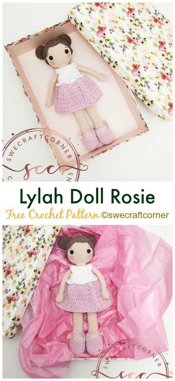 Lylah Doll Rosie Crochet Amigurumi Free Pattern - #Crochet, #Doll Toys Amigurumi Free Patterns