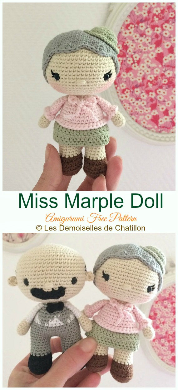 Miss Marple Doll Crochet Amigurumi Free Pattern - #Crochet, #Doll Toys Amigurumi Free Patterns