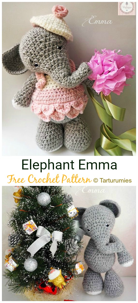 Elephant Amigurumi - Free Crochet Pattern • Craft Passion | 1250x570