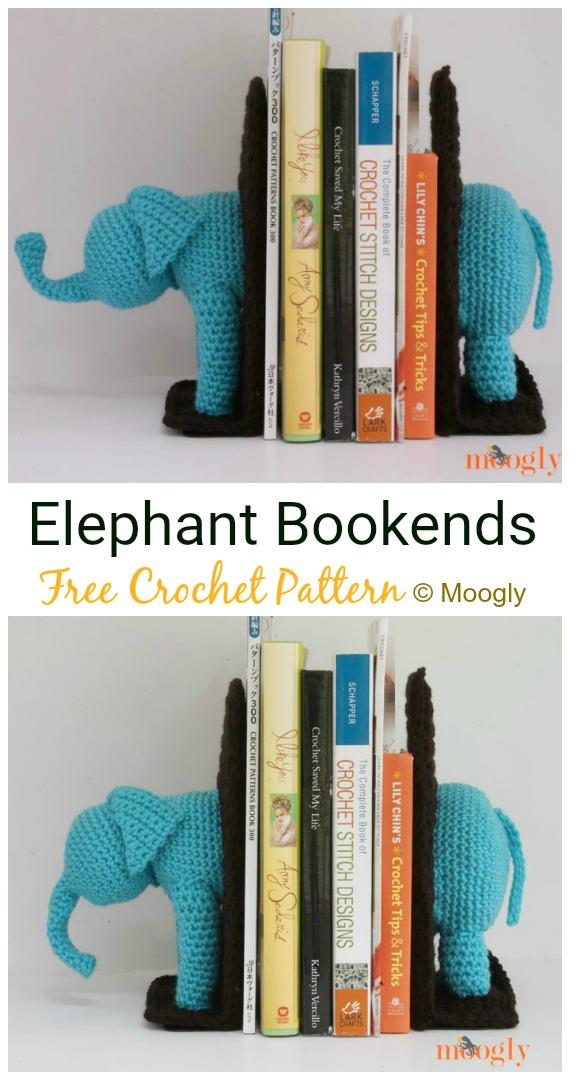 Crochet   Elephant Bookends Amigurumi Free Pattern - #Crochet Amigurumi Crochet #Elephant Toy Softies Free Patterns