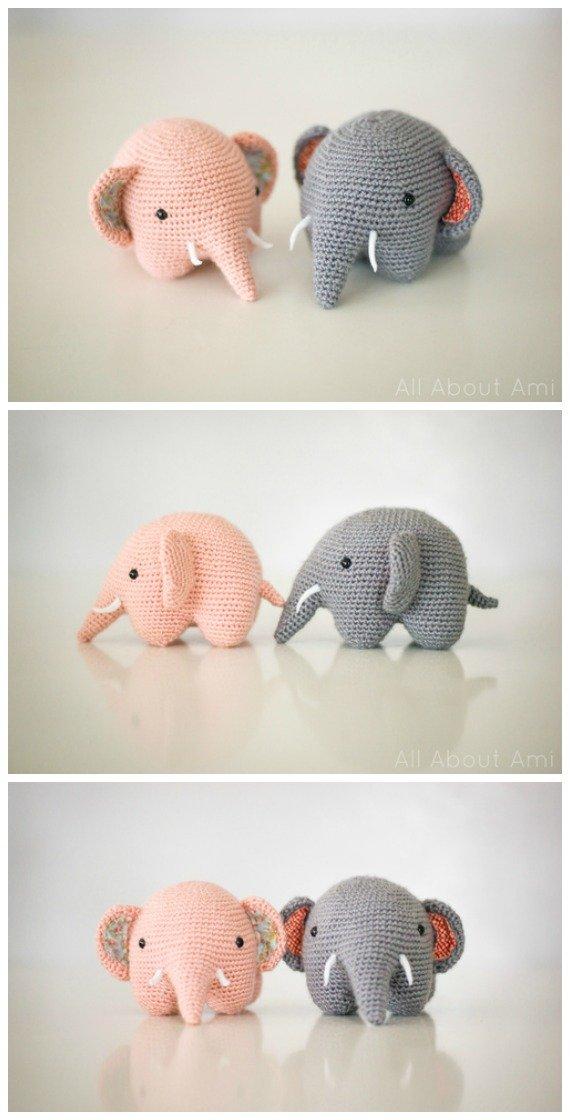 Crochet Kawaii Elephant Amigurumi Free Pattern - #Crochet Amigurumi Crochet #Elephant Toy Softies Free Patterns