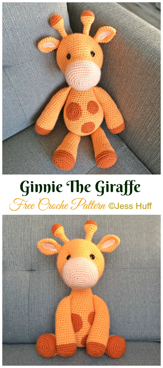 Ginnie The Giraffe Crochet Amigurumi Free Pattern - #Amigurumi; #Giraffe; Toy Free Crochet Patterns