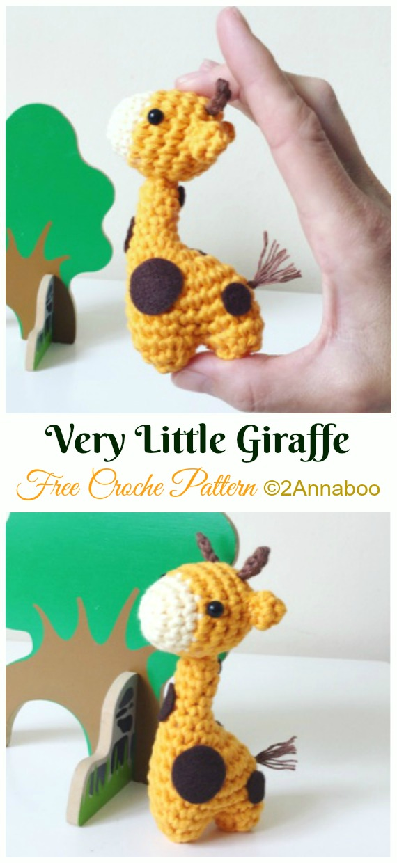 Very Little Giraffe Crochet Amigurumi Free Pattern - #Amigurumi; #Giraffe; Toy Free Crochet Patterns