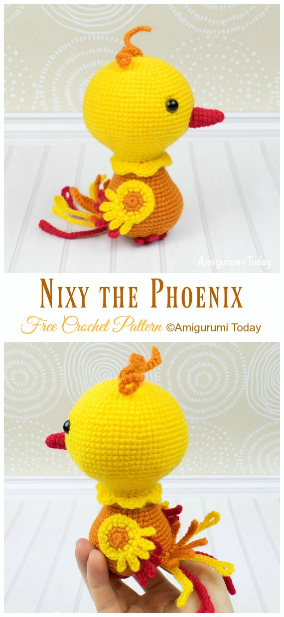 Nixy the Phoenix Amigurumi Free Crochet Pattern - Crochet #Bird; #Amigurumi Free Patterns
