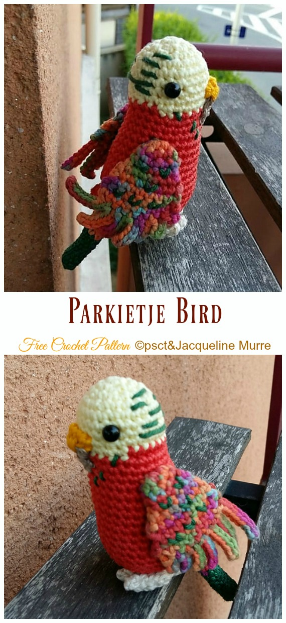 Parkietje Bird Amigurumi Free Crochet Pattern - Crochet #Bird; #Amigurumi Free Patterns