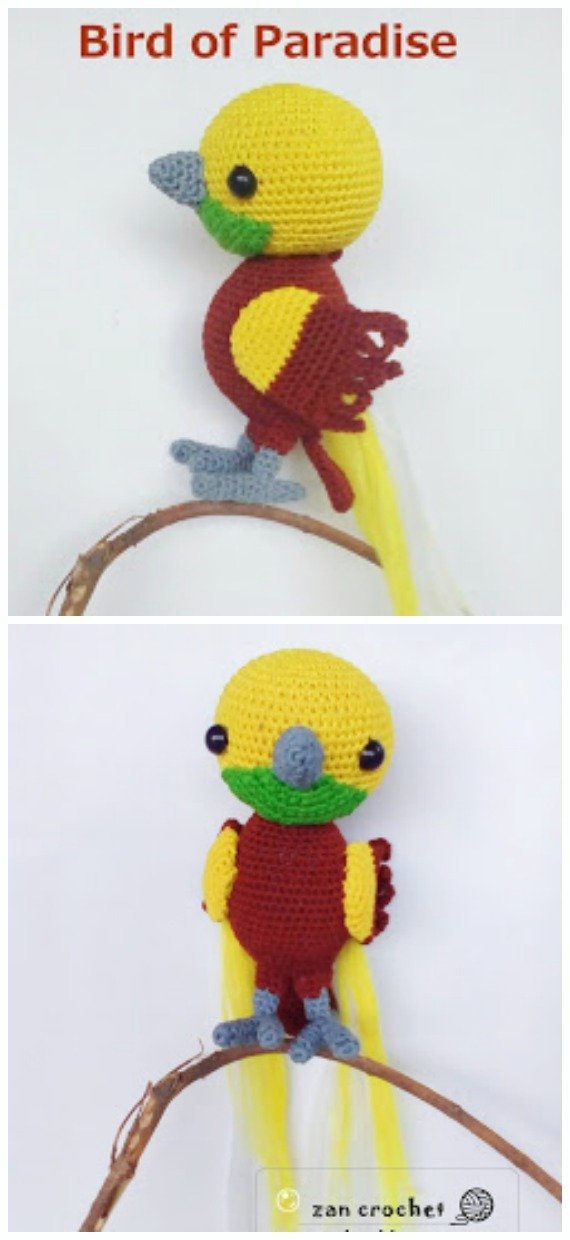Bird of Paradise Amigurumi Free Crochet Pattern - Crochet #Bird; #Amigurumi Free Patterns