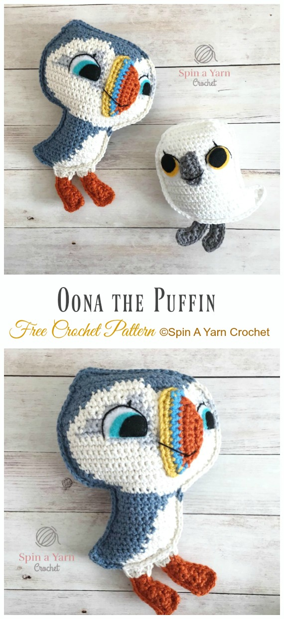 Oona the Puffin Amigurumi Free Crochet Pattern - Crochet #Bird; #Amigurumi Free Patterns