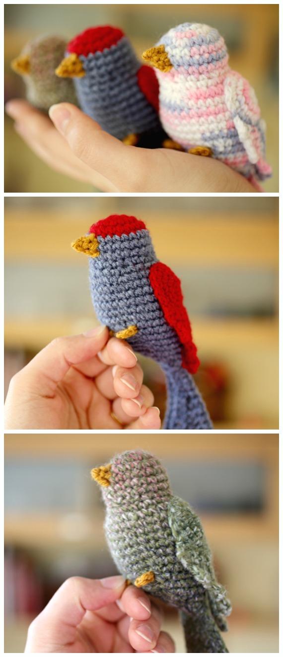 Lovely Birds Amigurumi Free Crochet Pattern - Crochet #Bird; #Amigurumi Free Patterns