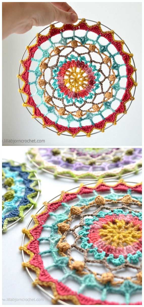 Spirit Mandala Dream Catcher Crochet Free Pattern - #Crochet #DreamCatcher Free Patterns
