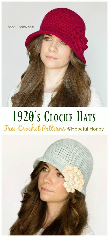 1da71873a69 1920 s Cloche Hat Crochet Free Pattern - Women  SunHat  Free  Crochet   Patterns