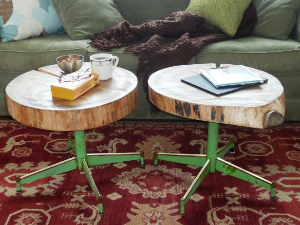 DIY Accent Wood Log Table Instructions - Raw Wood Logs and Stumps DIY Ideas Projects