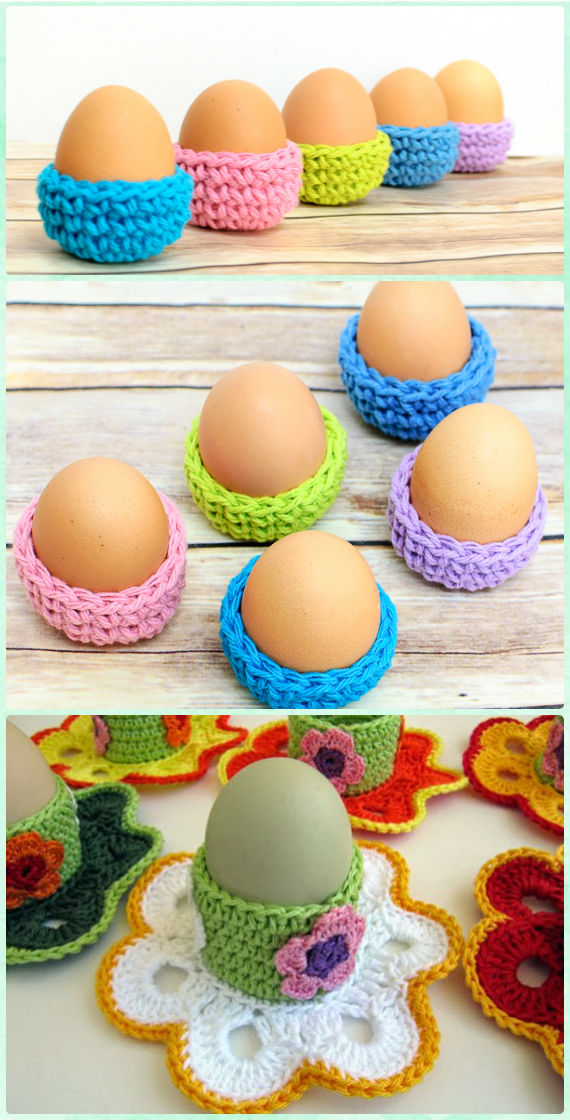 Easter Eggs Cozy Holder Crochet Free Pattern - #Crochet; #Easter; Egg Cozy Cover & Holder Free Patterns