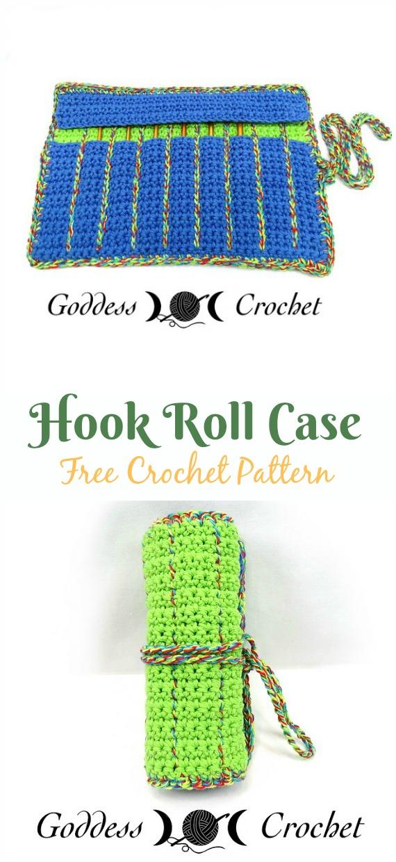 Crochet Hook Roll Case Free Pattern - #Crochet #HookCase & Holders Free Patterns