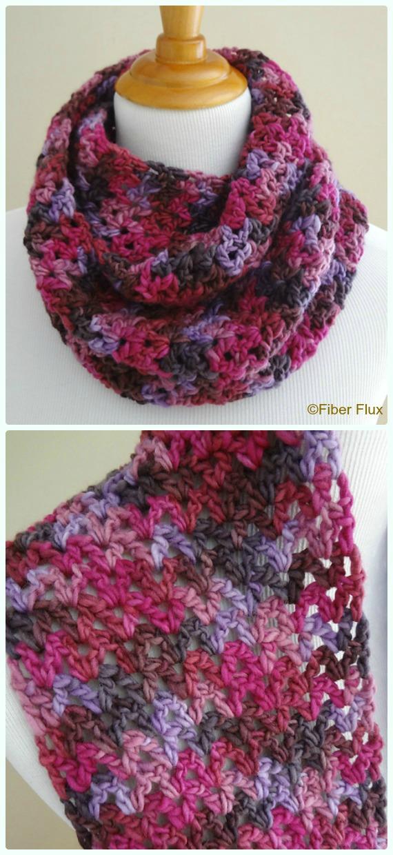 Gelato Infinity Scarf Crochet Free Pattern - #Crochet #Cowl & Infinity Scarf Free Patterns