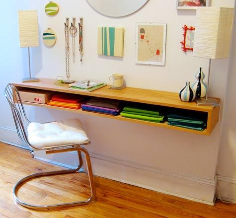 DIY Maggi's Minimalist Oak Desk Tutorial - DIY Wall Mounted Desk Free Plans & Instructions