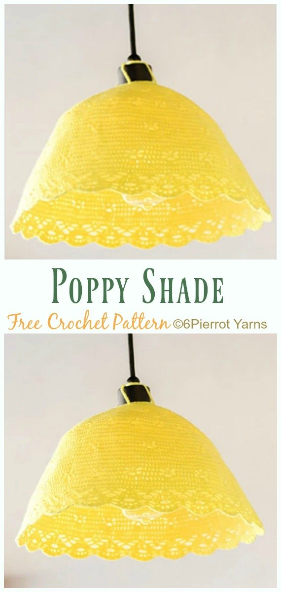 Poppy Shade Crochet Free Pattern - #Crochet; Lamp Shade Free Patterns