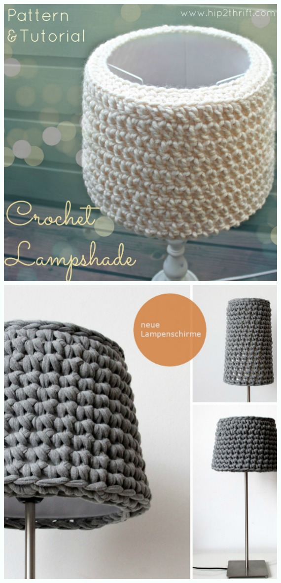 Simple Lampshade Crochet Free Pattern - #Crochet; Lamp Shade Free Patterns