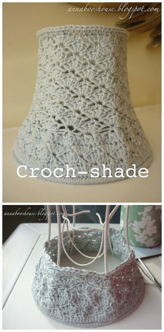 20 Crochet Lamp Shade Free Patterns