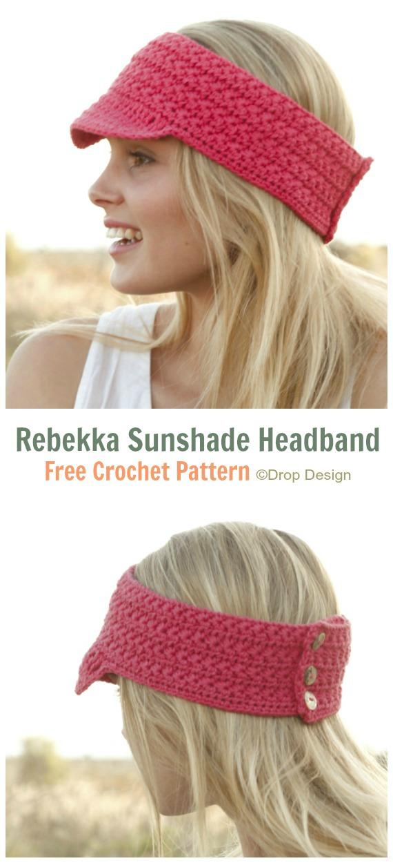 Rebekka Sunshade Headband Crochet Free Pattern - Fabulous Women #Headband; Free #Crochet; Patterns