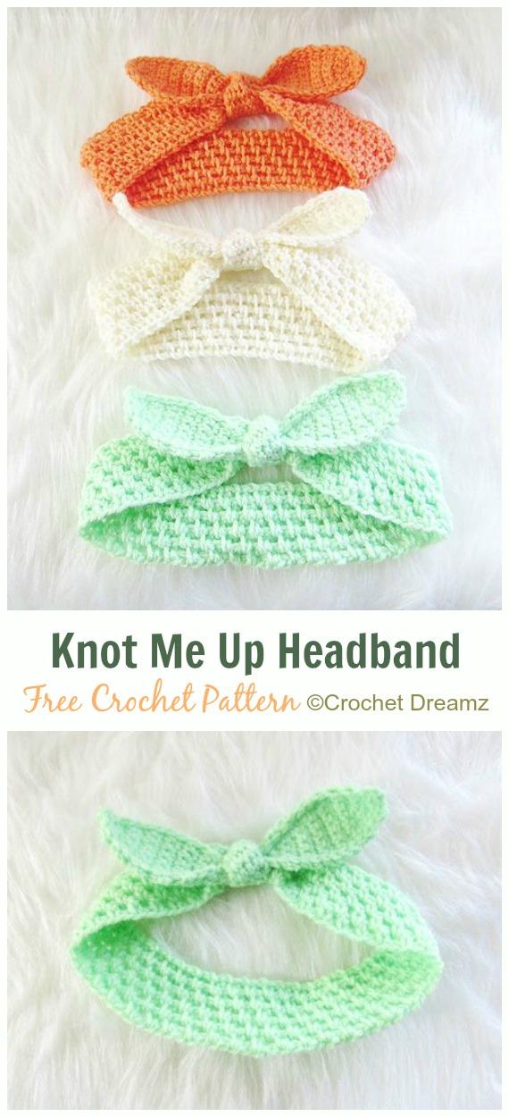 Knot Me Up Headband Crochet Free Pattern - Fabulous Women #Headband; Free #Crochet; Patterns