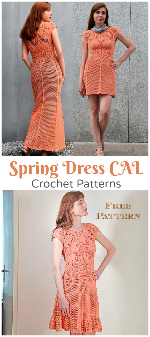 Spring Dress CAL Crochet Free Pattern - Women Summer #Dress; Free Crochet Patterns