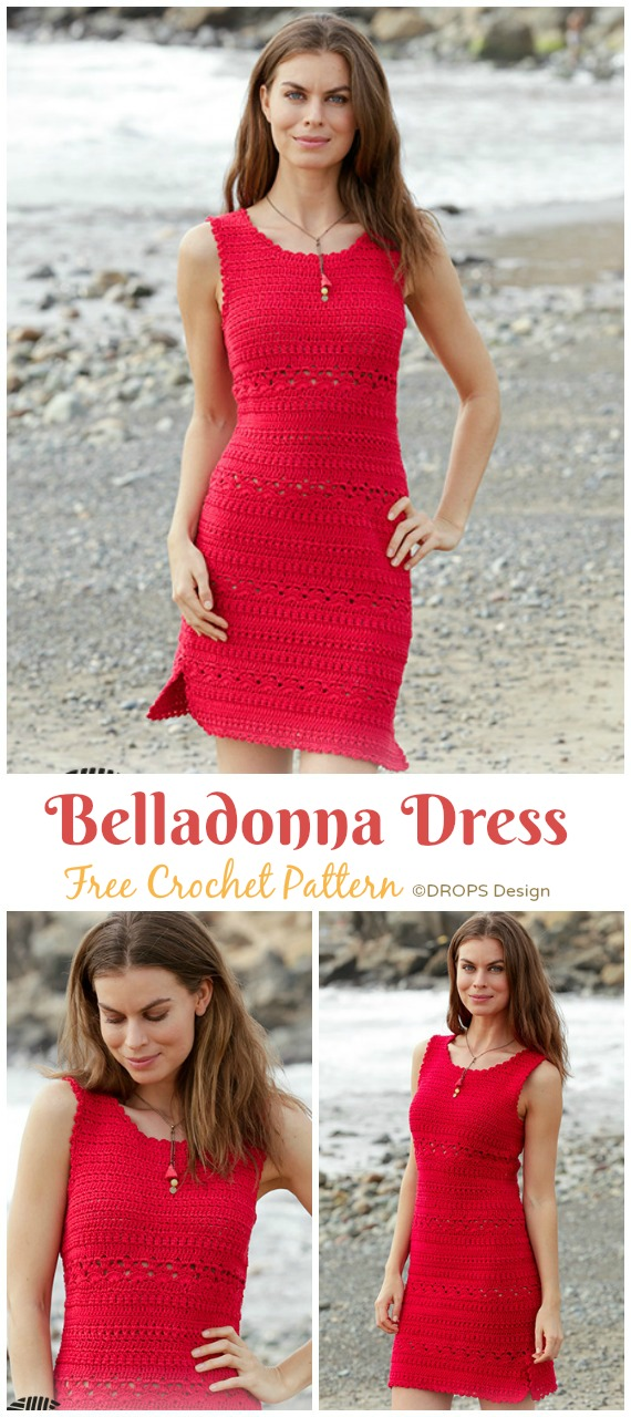 Belladonna Dress Crochet Free Pattern - Women Summer #Dress; Free Crochet Patterns
