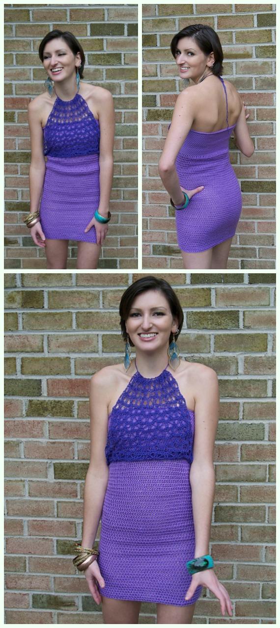 Party Harder Dress Crochet Free Pattern - Women Summer #Dress; Free Crochet Patterns