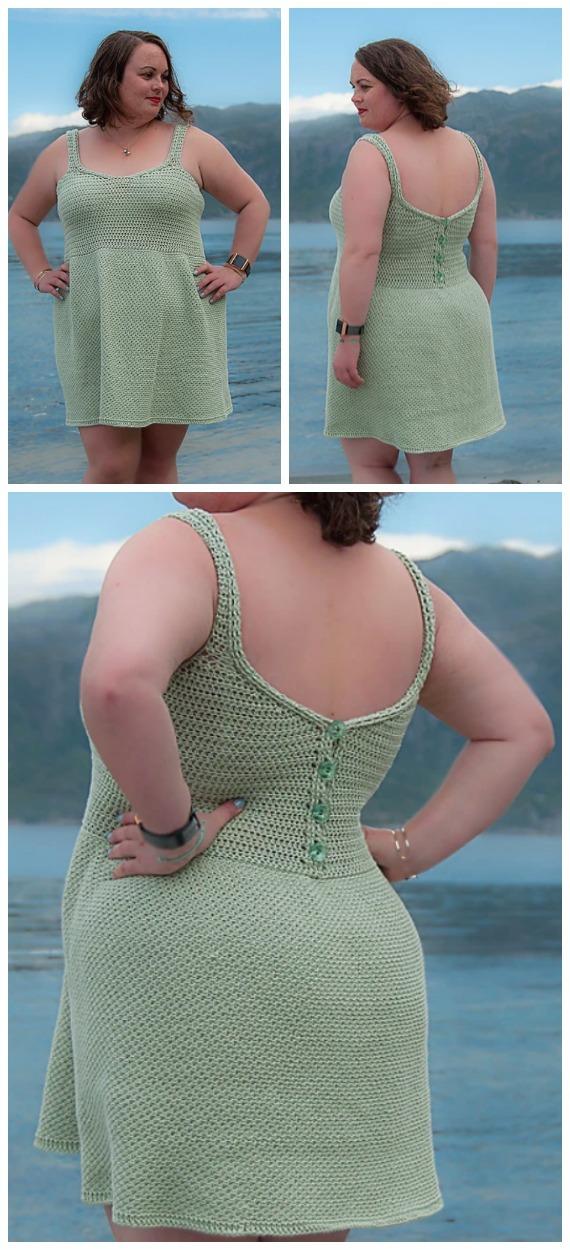 Vivo Dress Crochet Free Pattern - Women Summer #Dress; Free Crochet Patterns
