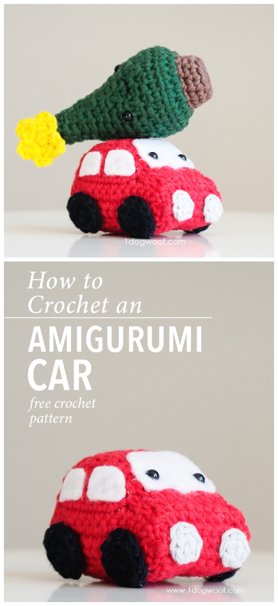 Amigurumi Mini Car Crochet Free Pattern - Crochet #Car; #Amigurumi Free Patterns