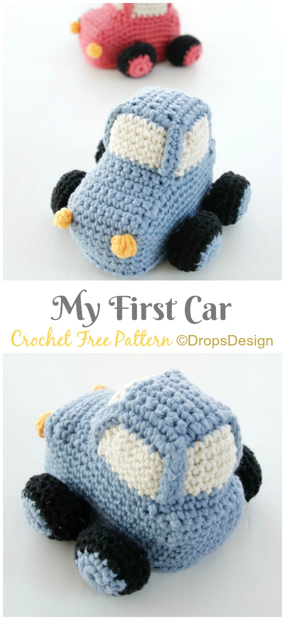 Amigurumi My First Car Crochet Free Pattern - Crochet #Car; #Amigurumi Free Patterns