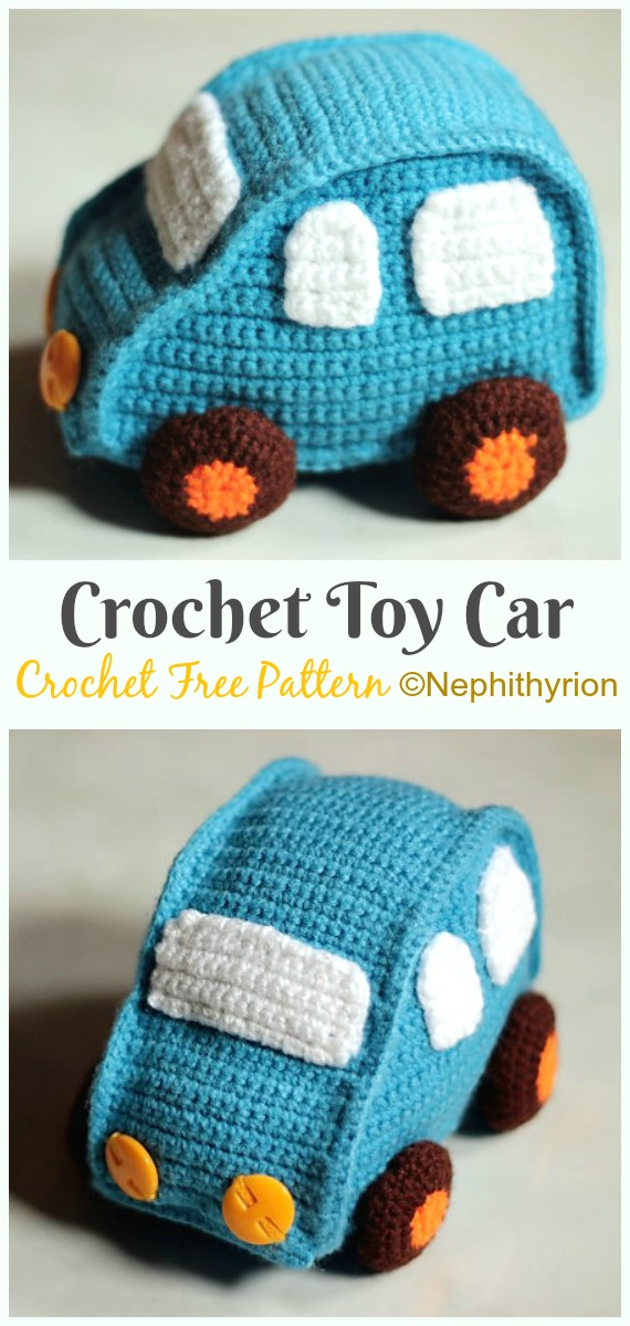 Amigurumi Toy Car Crochet Free Pattern - Crochet #Car; #Amigurumi Free Patterns