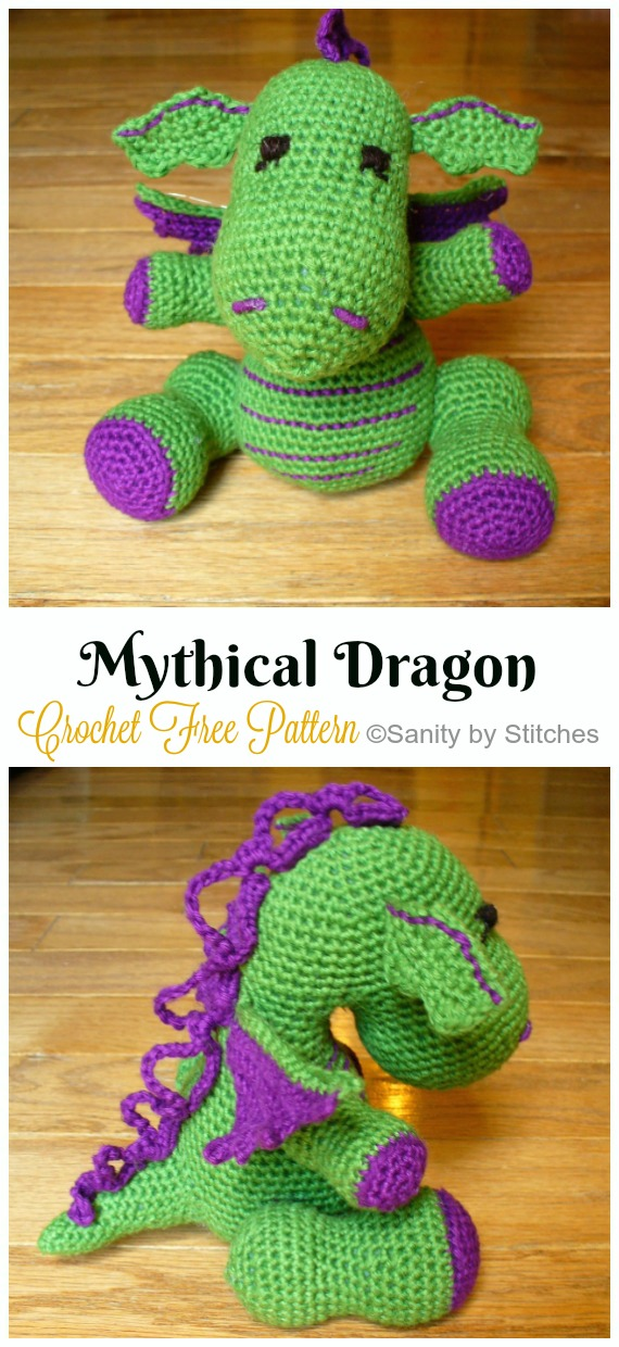 Crochet Mythical Dragon Amigurumi Free Pattern - #Amigurumi; #Dragon; Free Crochet Patterns