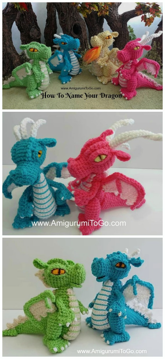 Crochet Small But Mighty Dragon Amigurumi Free Pattern - #Amigurumi; #Dragon; Free Crochet Patterns