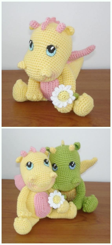 Crochet BB Dragon Amigurumi Free Pattern - #Amigurumi; #Dragon; Free Crochet Patterns
