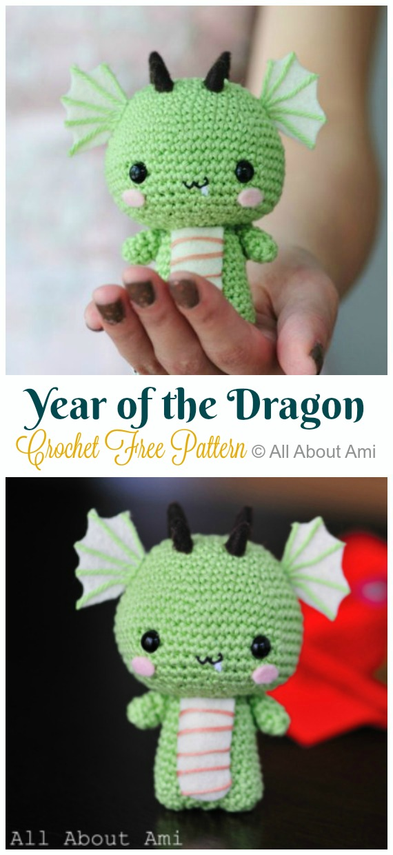 Crochet Year of the Dragon Amigurumi Free Pattern - #Amigurumi; #Dragon; Free Crochet Patterns