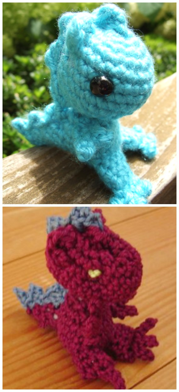 Crochet Tiny Dragon Amigurumi Free Pattern - #Amigurumi; #Dragon; Free Crochet Patterns