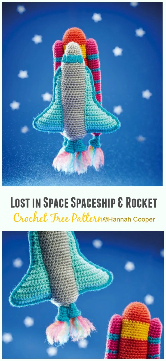 Crochet Lost in Space Spaceship & Rocket  Amigurumi Free Pattern - #Amigurumi; #Rocket;Toy Free Crochet Patterns