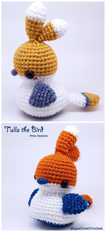 Tulla the Bird Amigurumi Free Crochet Pattern - Crochet #Bird; #Amigurumi Free Patterns