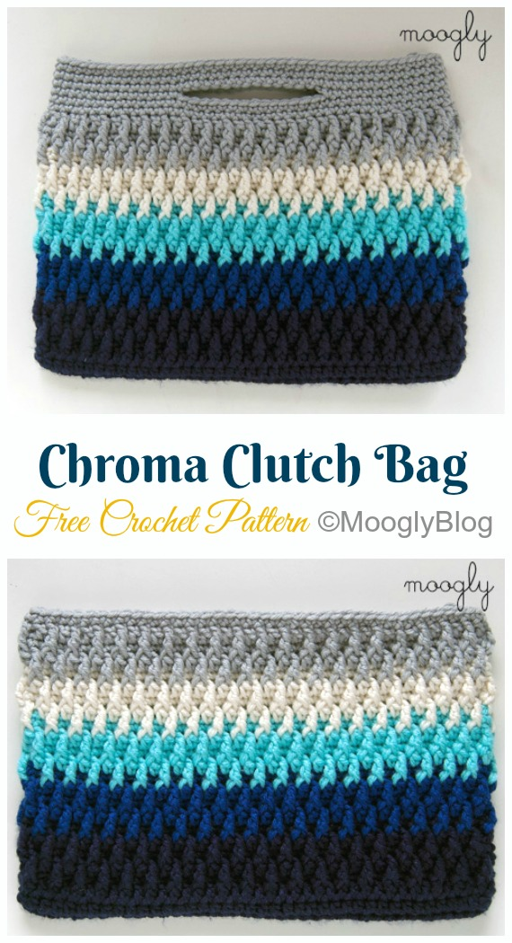 Chroma Clutch Bag Crochet Free Pattern- #Crochet; #Clutch; Purse Free Patterns
