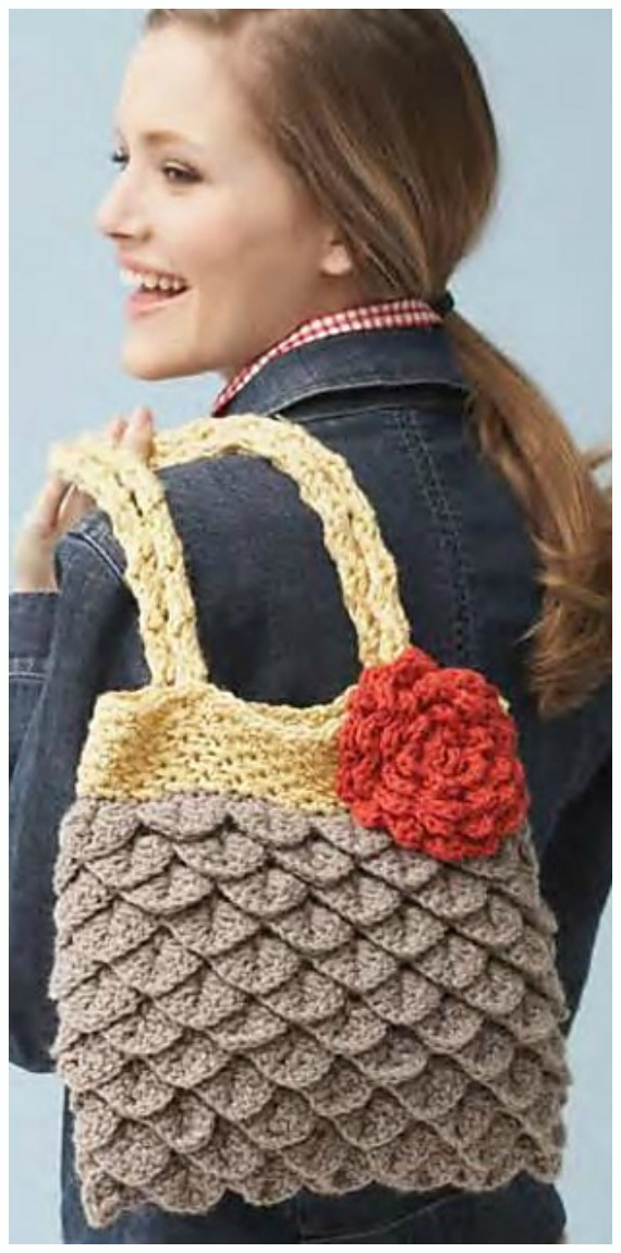 Mermaid Tears Purse Crochet Free Pattern- #Crochet; #Clutch; Purse Free Patterns