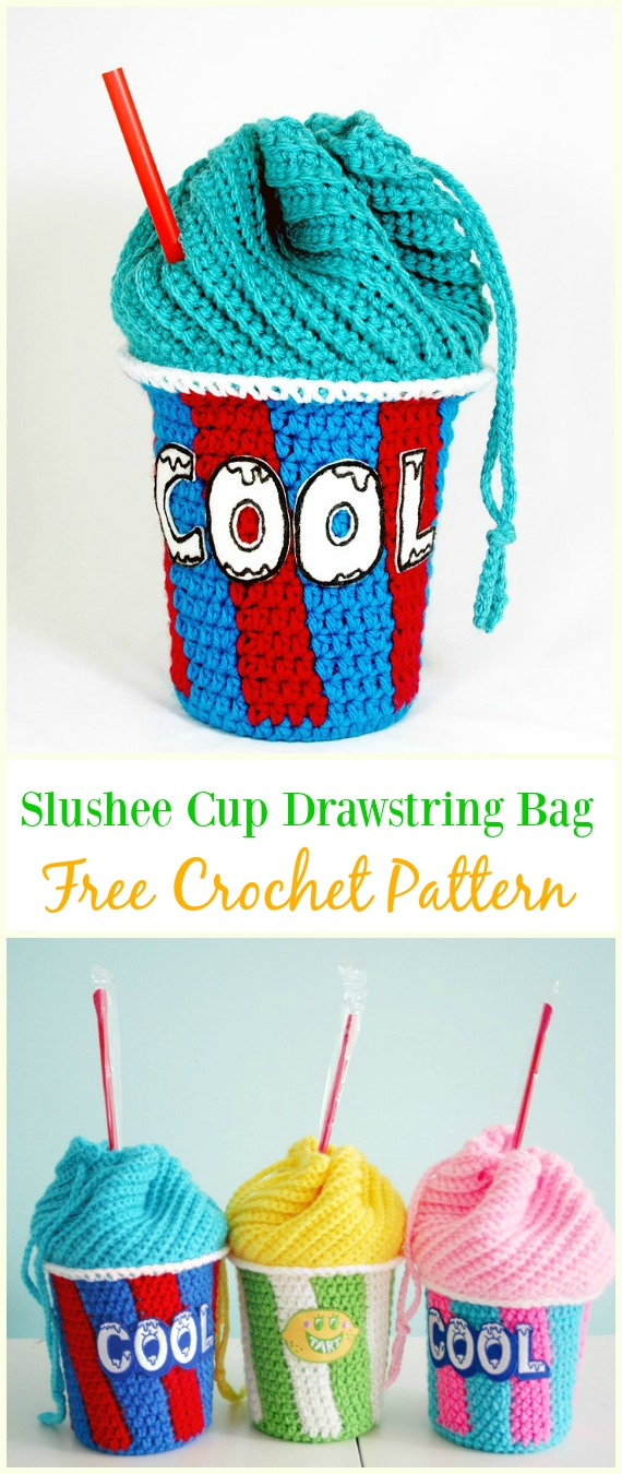 image relating to Dice Bag Printable Pattern titled Crochet Drawstring Luggage Free of charge Designs Do it yourself Tutorials