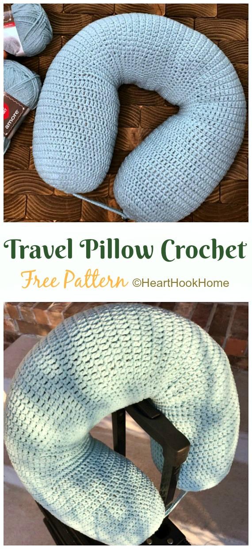 12 Travel Neck Pillow Crochet Patterns
