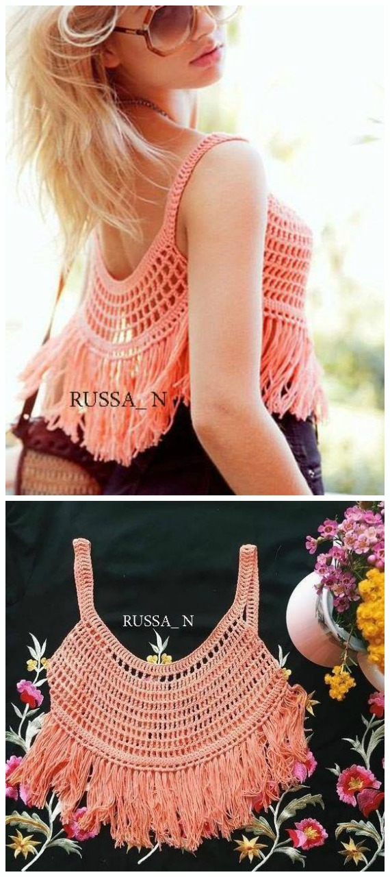 Piper Singlet Top Crochet Free Pattern- Women #CropTop; Free #Crochet; Patterns [Summer Edition]