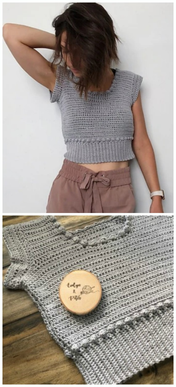 The Bobble Crop Top Crochet Free Pattern - Women #CropTop; Free #Crochet; Patterns [Summer Edition]