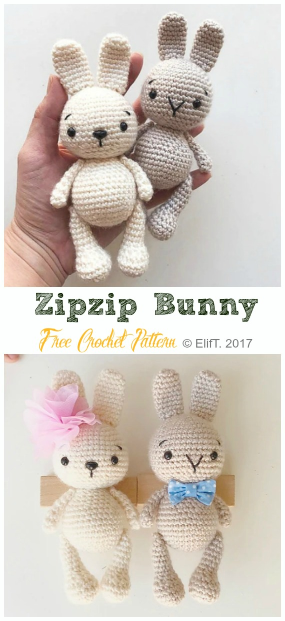 Love This Pretty Bunny Amigurumi In Dress - Knit And Crochet Daily | 1240x570