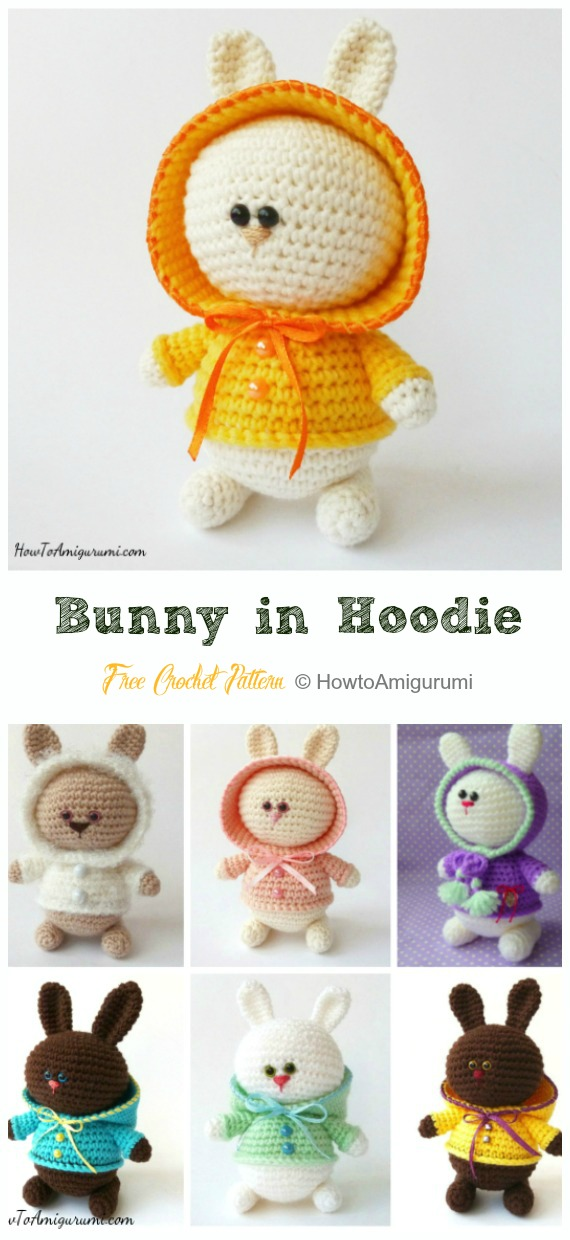 Dress me bunny boy and girl - Free amigurumi pattern | 1240x570
