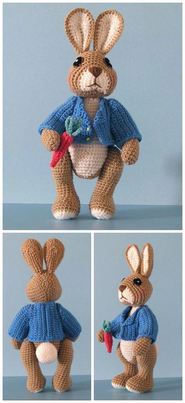 Amigurumi Robbie Rabbit Crochet Free Pattern - Crochet #Bunny; Toy #Amigurumi; Free Patterns