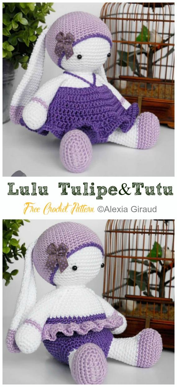 Amigurumi Bunny Lulu Tulipe  Crochet Free Pattern - Crochet #Bunny; Toy #Amigurumi; Free Patterns