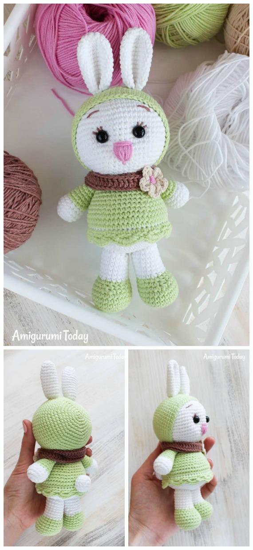 Amigurumi Sunny Bunny Crochet Free Pattern - Crochet #Bunny; Toy #Amigurumi; Free Patterns